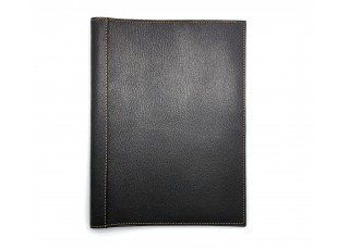 leather-find-note-cover-goat-shrink-leather-custom-grey