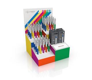 parker-jotter-originals-4-blocks-display-with-45-loose-bp-and-6-refills