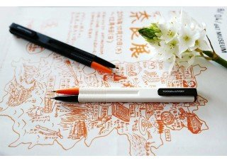 baton-pen-orangeblack-black-barrel
